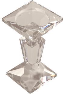 Castiçal De Cristal Genova Pequeno Para 1 Vela
