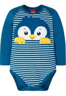 Body Bebê Masculino Azul