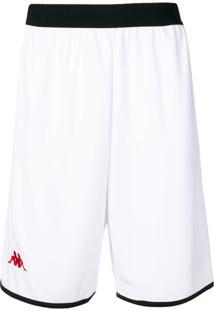 Kappa Bermuda Esportiva Com Logo - Branco