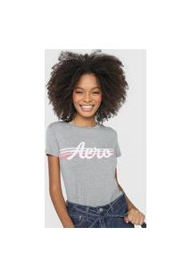 Camiseta Aeropostale Stripes Cinza