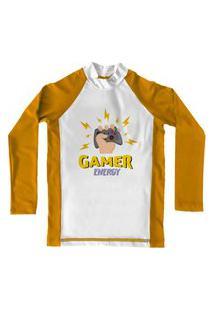 Camiseta De Lycra Comfy Gamer Amarela