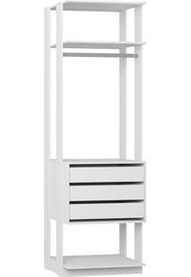 Guarda-Roupa Modulado Clothes 3 Gv Branco