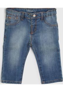 Calça Jeans Vrk Kids Infantil Estonada Azul