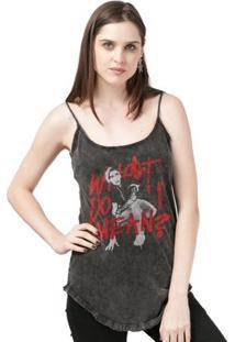 Camiseta Bandup! Justin Bieber Double Bieber - Feminino-Preto