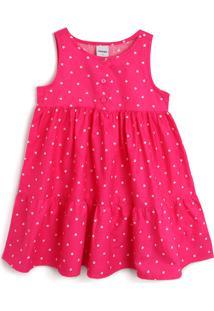 Vestido Rovitex Coração Rosa