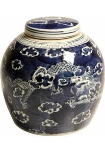 Vaso Decorativo De Porcelana Com Tampa Rice - Unissex