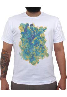 Seleção Brasileira De Futebol Arte - Camiseta Clássica Masculina