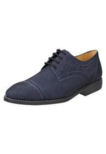Sapato Social Derby Sandro Moscoloni Junco Azul