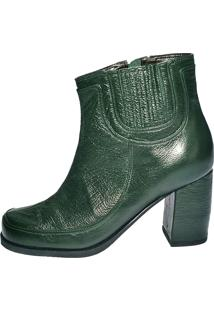 Bota Thádiva Ankle Boot Felini Verde