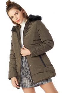 Casaco Longo Nylon Fur