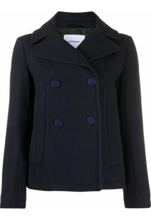 Dondup Short Double-Breasted Fitted Jacket - Azul