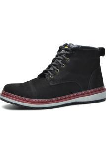 Bota Worker Over Boots Couro Preto Urban