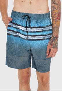 Bermuda ÁGua Hurley Reta Acqua Azul - Azul - Masculino - Dafiti