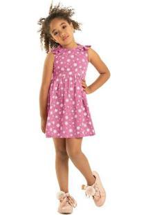 Vestido Rovitex Kids Rosa