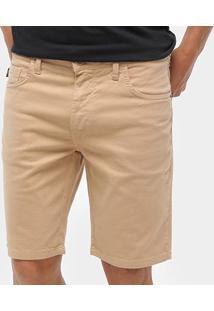 Bermuda Jeans Triton Masculina - Masculino-Bege