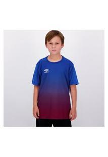 Camisa Umbro Twr Degradê Juvenil Azul E Bordô