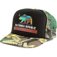Boné Blanks Co Snap Back California Aba Curva Camuflado Multicolorido 2b454f8a147