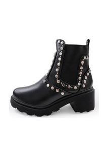 Bota Feminina Its Shoes Safira Preta