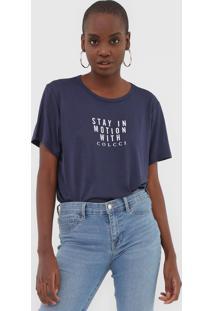 Camiseta Colcci Motion Azul-Marinho - Azul Marinho - Feminino - Viscose - Dafiti