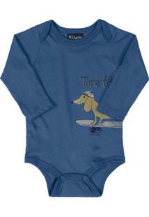 Body Infantil Surf Dog Azul