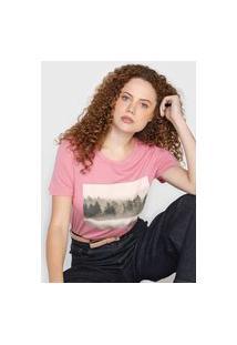 Camiseta Vero Moda Trees Rosa