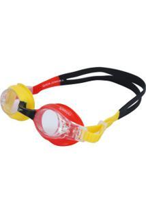 Óculos De Natação Speedo Quick Ii - Infantil - Vermelho/Amarelo