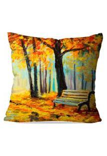 Capa De Almofada Avulsa Decorativa Pintura Outono 45X45Cm