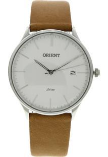 56a95d7b67c Relógio Orient Mbsc1026-S1Mx Prata Caramelo