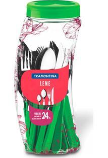 Faqueiro Inox 24 Peças Leme Verde - Tramontina Verde