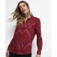402cb6439 Camisa Arabescos - Rosa & Vermelha - Dudalinadudalina