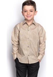 Camisa Social Juvenil Menino Manga Longa Camuflada Casual