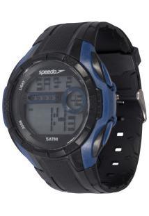 Relógio Digital Speedo Pai E Filho - Kit Com 2 - Preto/Azul
