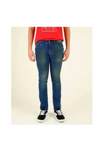 Calça Juvenil Jeans Skinny Rock & Soda Tam 10 A 16
