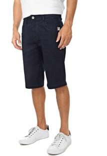 Bermuda Jeans Zune Reta Lisa Azul-Marinho