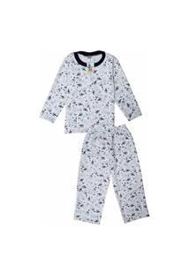 Pijama Moletom Infantil Babié Masculino Coelho Branco