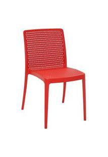 Cadeira Tramontina 92150040 Isabelle Polipropileno E Fibra De Vidro Vermelho