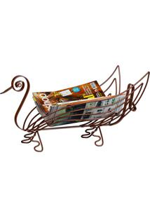 Porta Revista Cisne Bronze