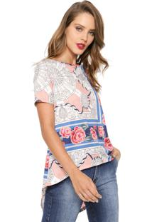 Camiseta My Favorite Thing(S) Mullet Floral Off-White/Azul