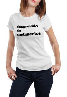 Camiseta Hunter Desprovido De Sentimento Branca