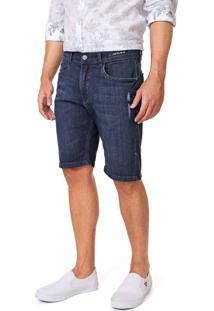 Bermuda Jeans Aramis Reta Destroyed Azul