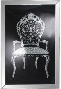 Quadro Decorativo De Parede Chaise Com Moldura De Espelho
