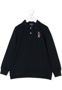 Ralph Lauren Kids Camisa Polo Com Logo - Azul