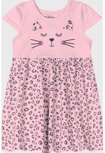 Vestido Rovitex Infantil Estampado Rosa