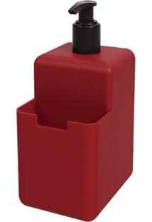 Dispenser Single 500Ml 8X10,5X18,2Cm Vermelho Bold - 17008/0465 - Coza - Coza