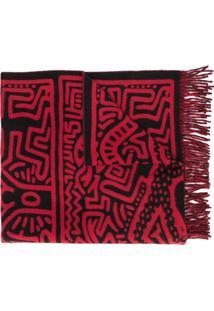 Études Cachecol Keith Haring - Vermelho