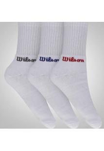 Kit De Meia Wilson All Sport Kit Com 3 Pares - 40 A 44 - Masculina - Branco
