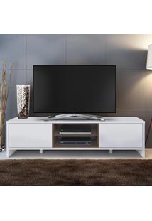 Rack Para Tv Até 50 Polegadas 2 Portas Sydney Branco/Rustic - Madesa