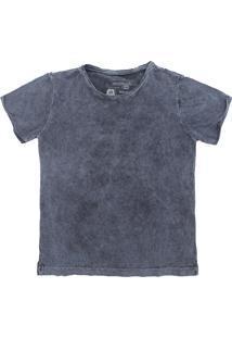 Camiseta Reserva Mini Menina Liso Azul