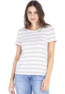 Camisetas Khelf Camiseta Feminina Manga Curta Listras Listra