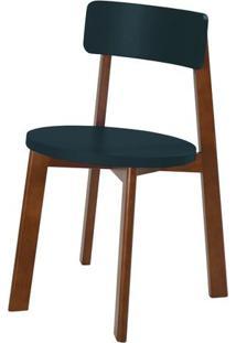 Cadeira Lina Cor Cacau Com Marinho - 31543 - Sun House